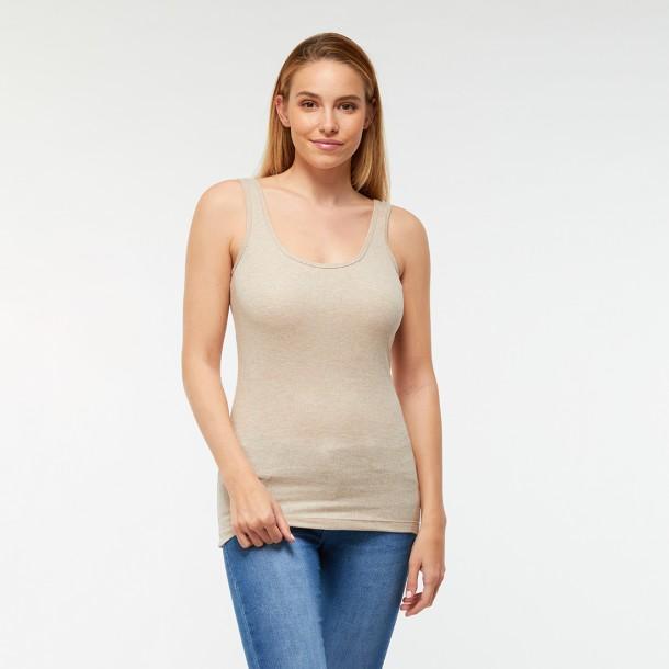 Bordás női trikó (drapp)