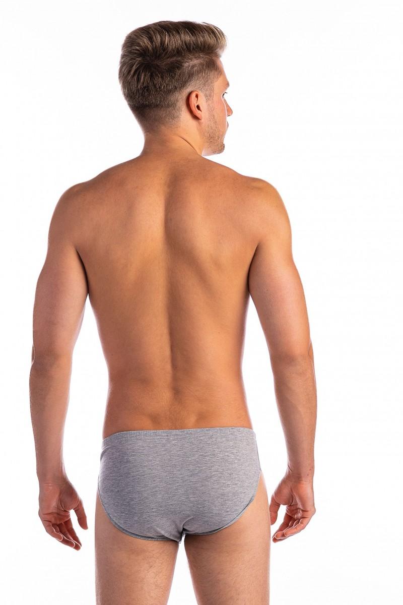 Egyszínű férfi alsó (melírszürke)