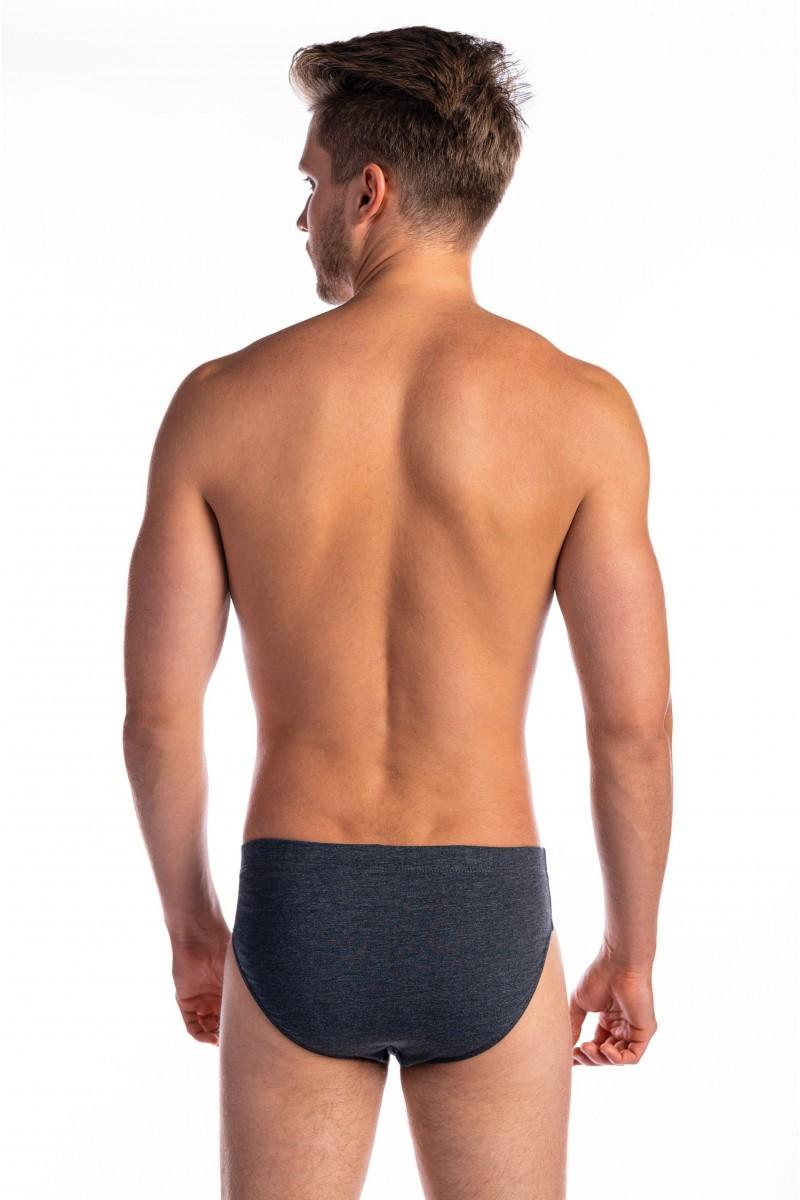 Egyszínű, oldalt paszpólcsíkos férfi alsó (sötétszürke)