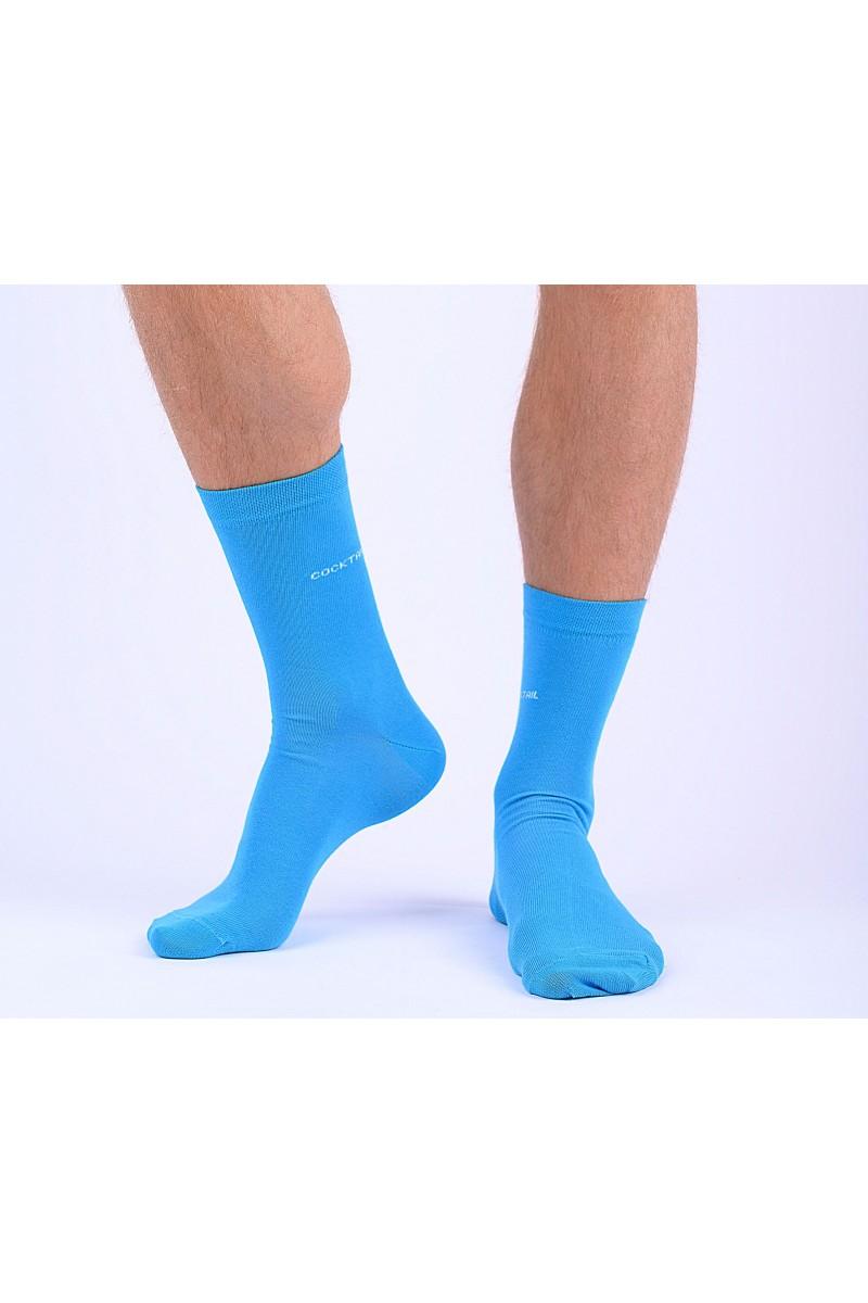 Egyszínű férfi zokni (türkizkék)