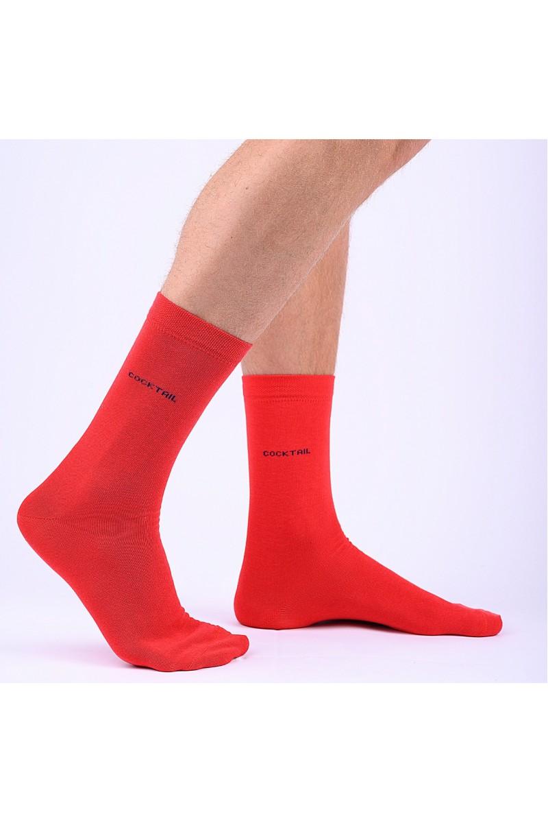Egyszínű férfi zokni (piros)