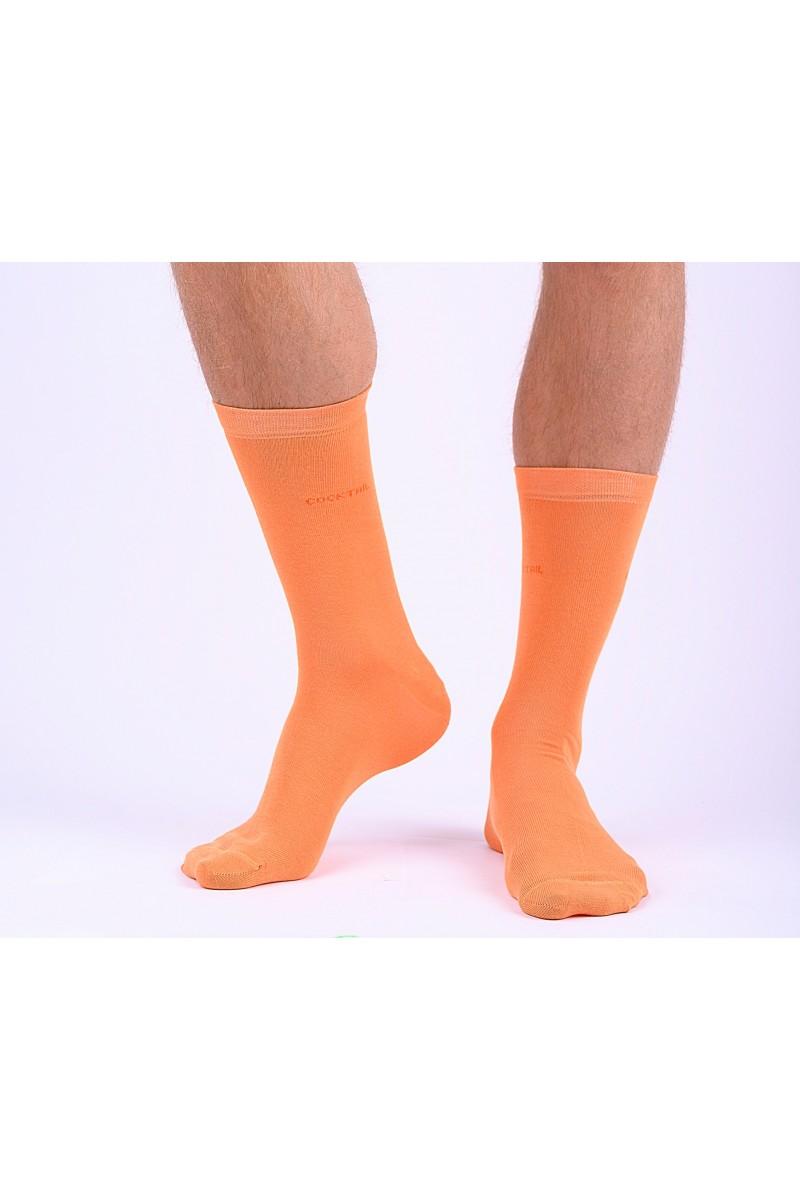 Egyszínű férfi zokni (narancssárga)