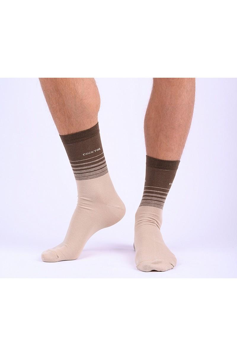 3 páras Trendi csíkos férfi zokni