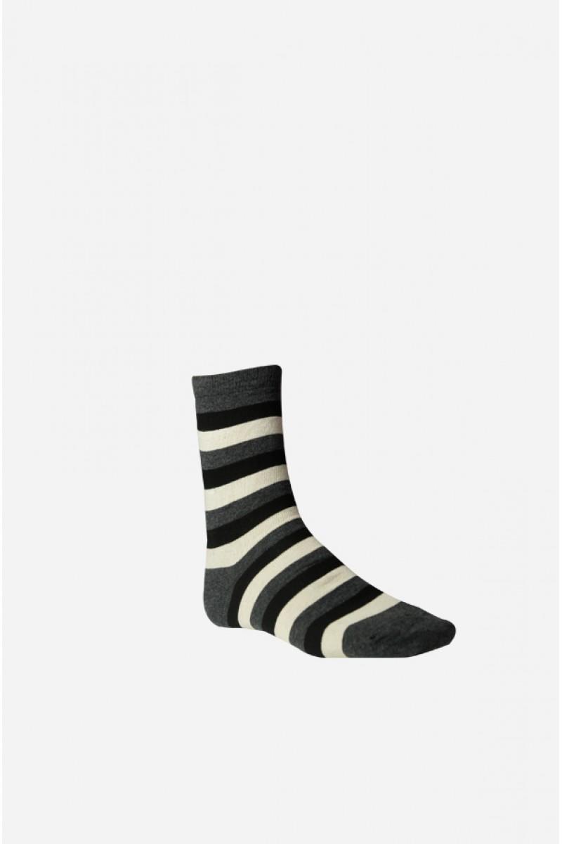 Széles csíkos férfi zokni (sötétszürke) bf7746f6ca