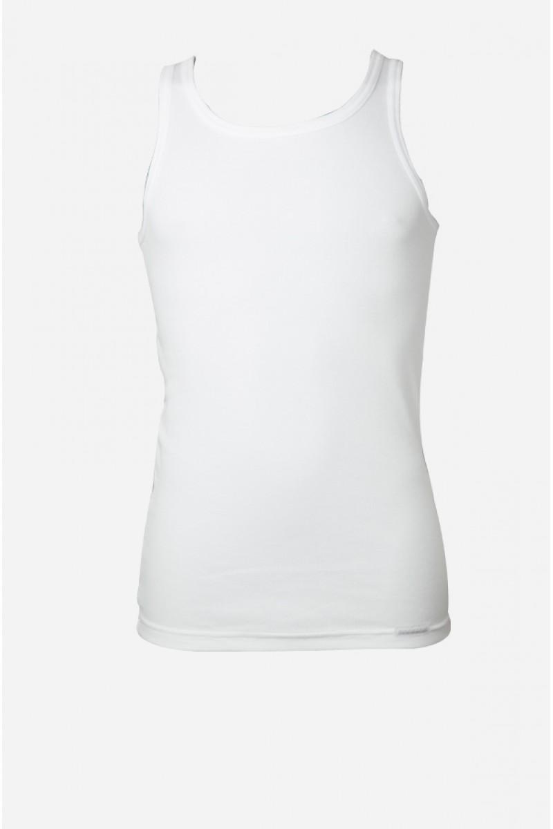 Keskeny vállú bordás férfi atléta (fehér)