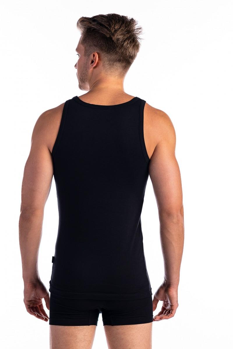 Keskeny vállú férfi atléta (fekete)