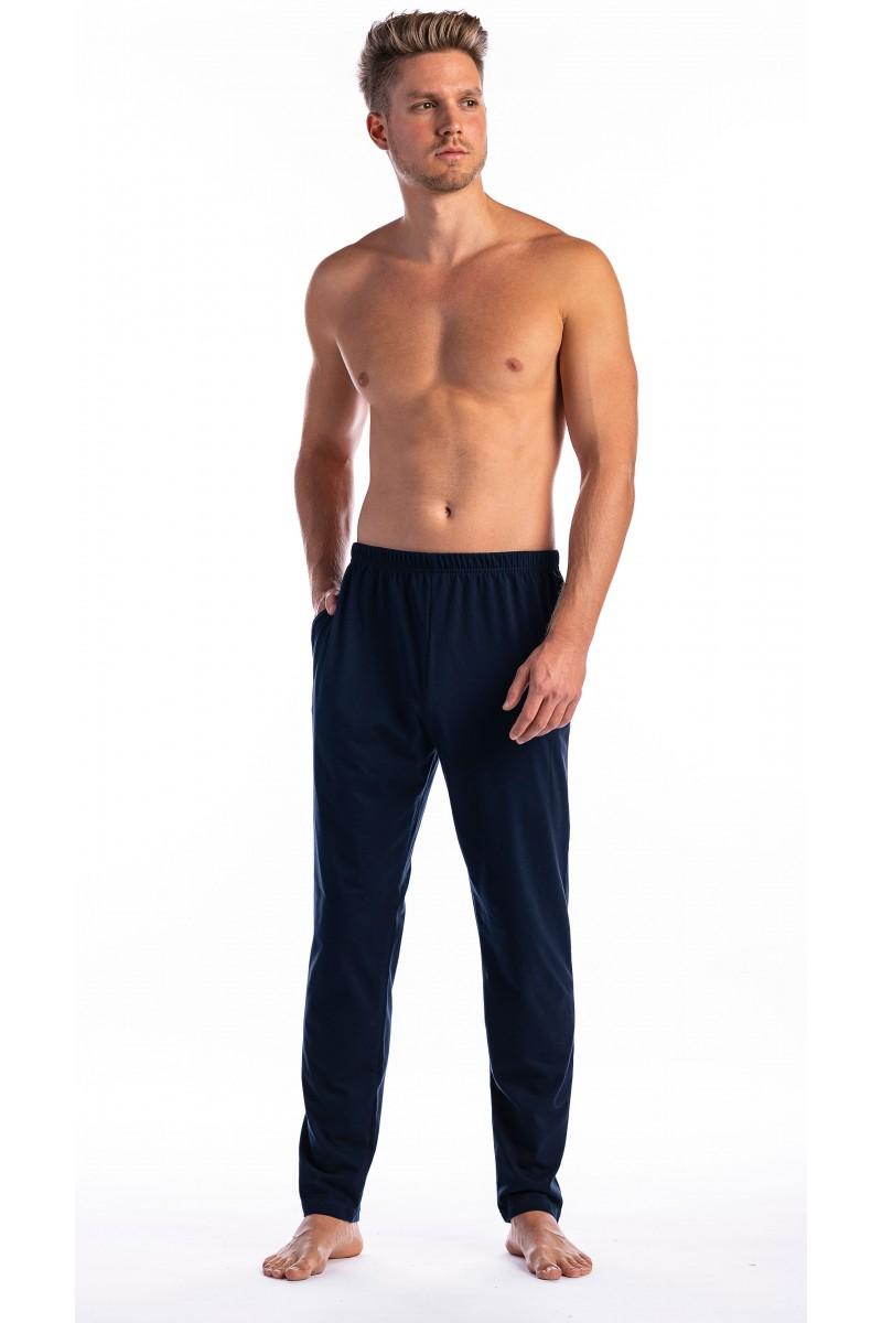 3-6 XL Hosszú pizsama alsó (sötétkék)