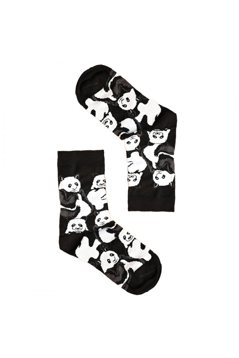 Panda mintás női zokni