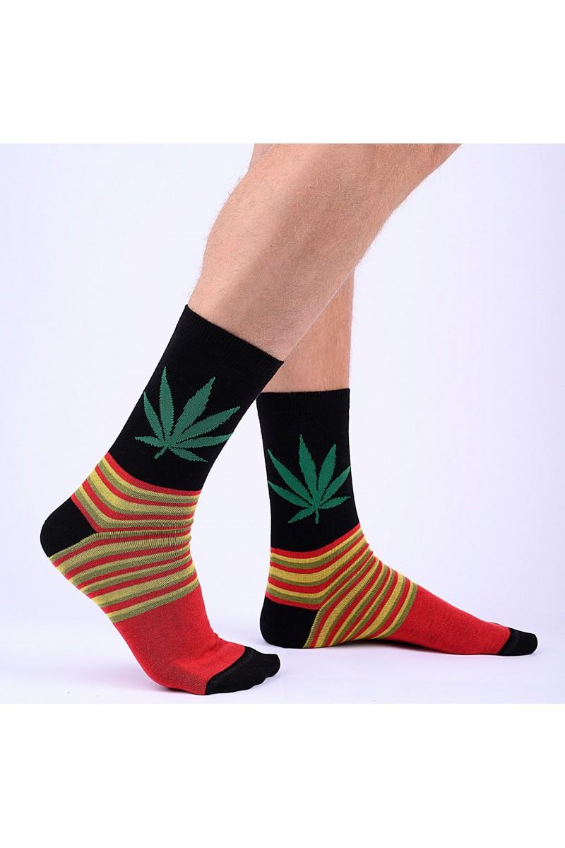 Cannabis mintás férfi zokni