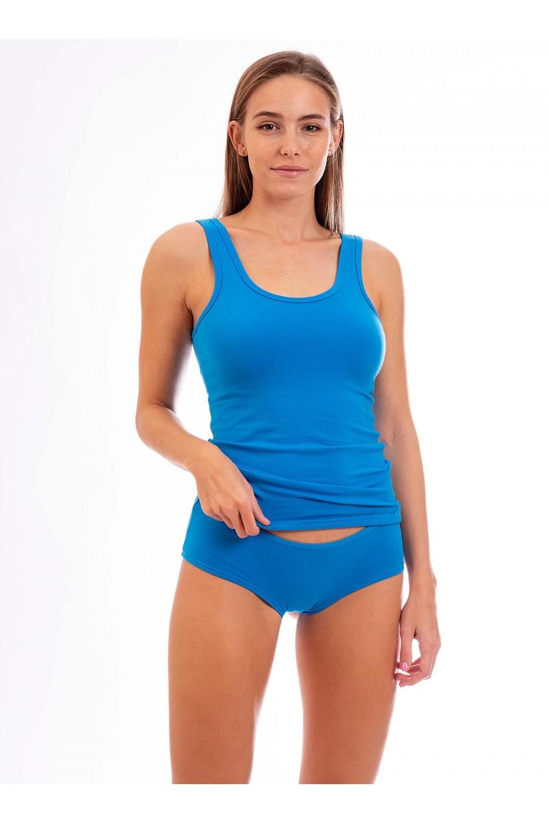 Egyszínű női francia alsó (élénk kék)
