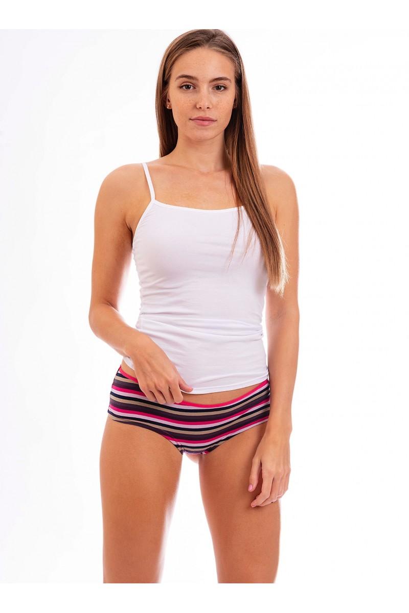 Csíkos női francia alsó (pink)