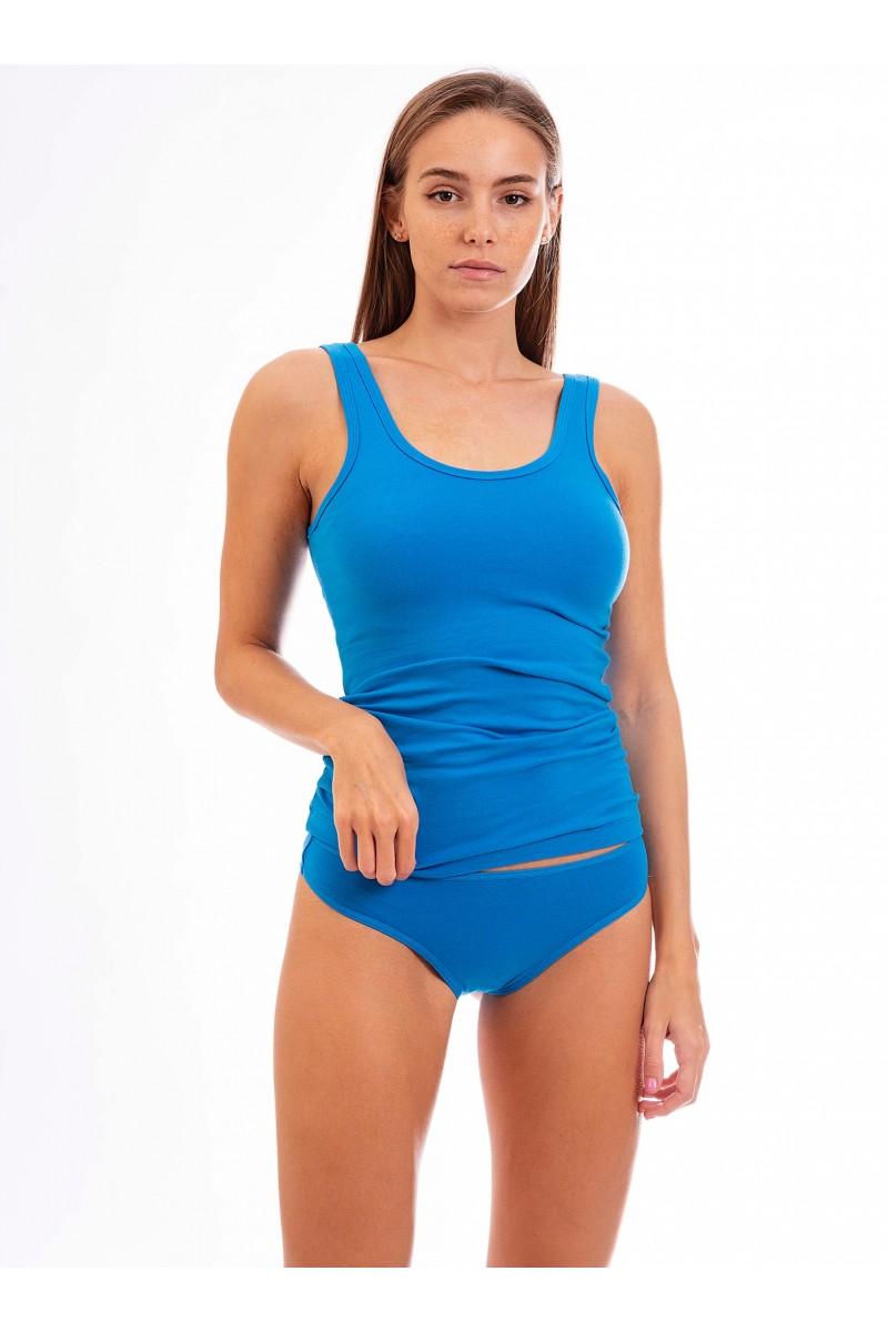 Egyszínű sima női alsó (élénk kék)