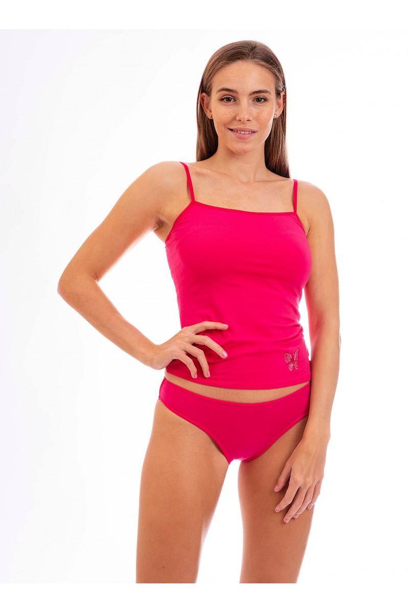 Egyszínű sima női alsó (pink)