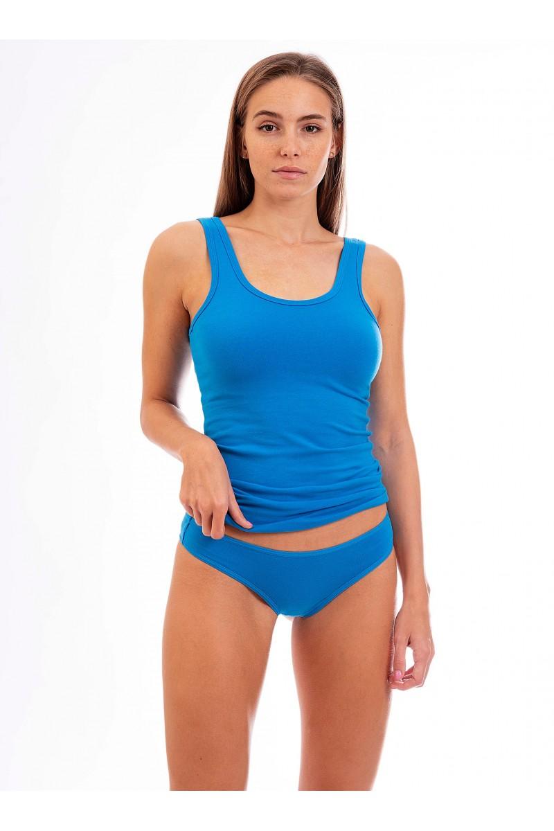 Egyszínű női tanga (kék)
