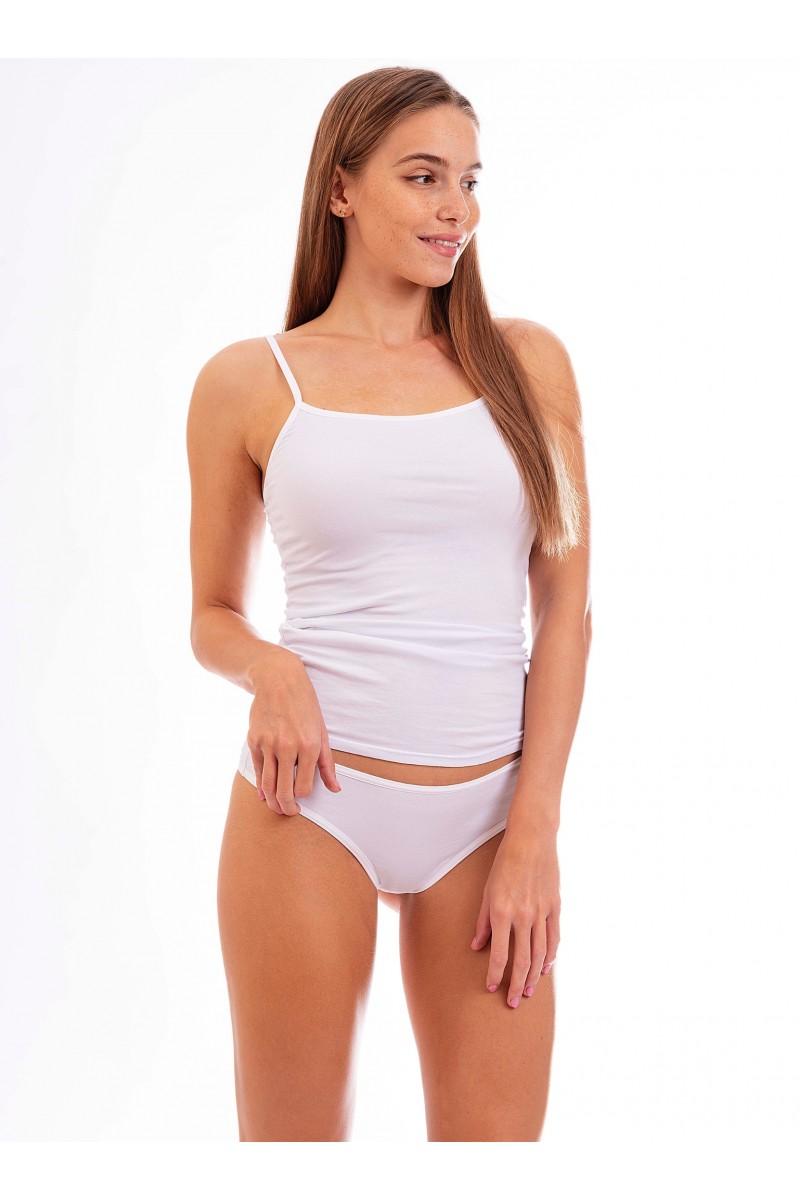 Egyszínű női tanga (fehér)