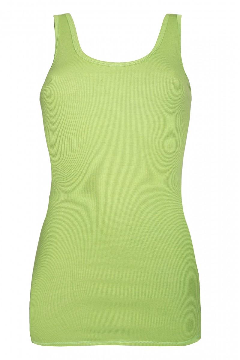 Bordás női trikó (almazöld)