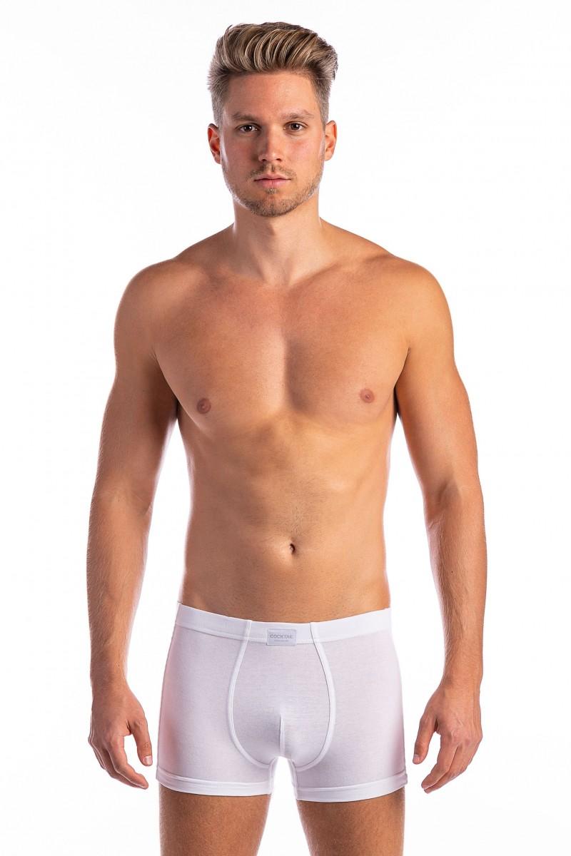 Egyszínű szűk boxer (fehér)
