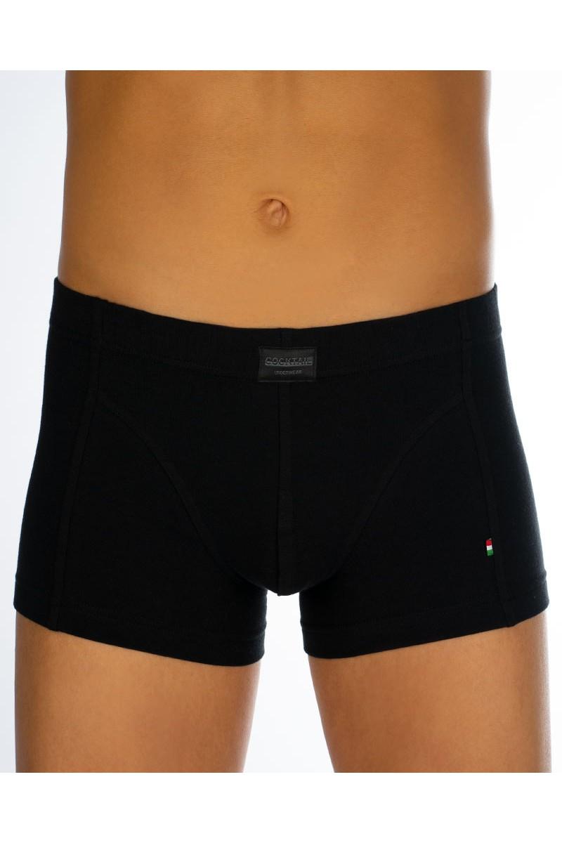 983c97e17c Egyszínű férfi csípőboxer (fekete)