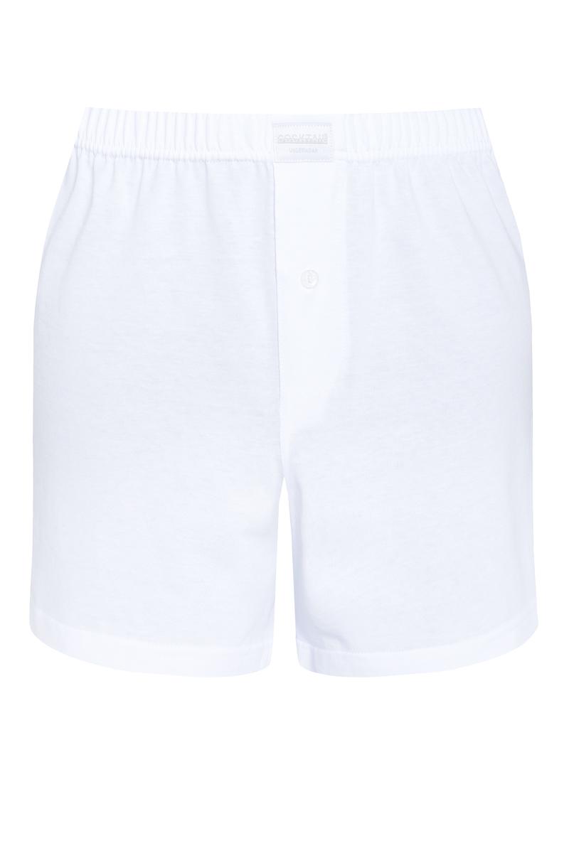 Egyszínű férfi bő boxer (fehér) ce63533c45