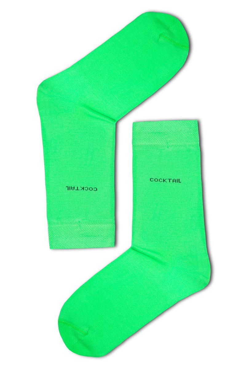 Egyszínű férfi zokni (neonzöld) 491e556c47