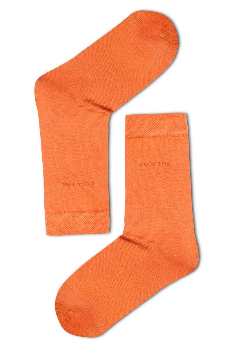 Egyszínű férfi zokni (narancssárga) 864e956b81