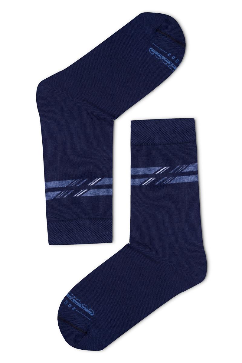 Felül csíkos férfi zokni (kék) eab657fba9
