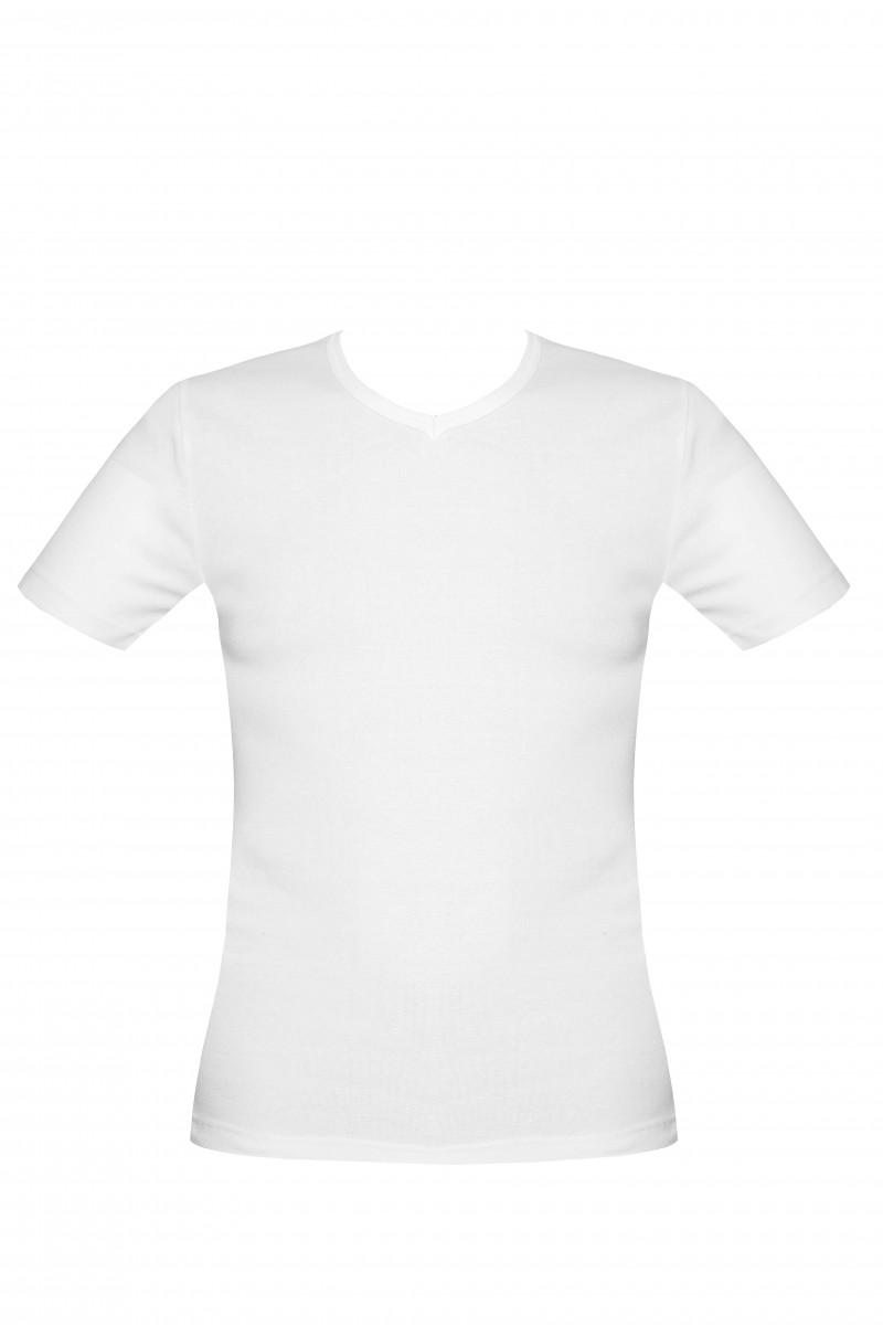 0a0d570595 V nyakú férfi póló (fehér)