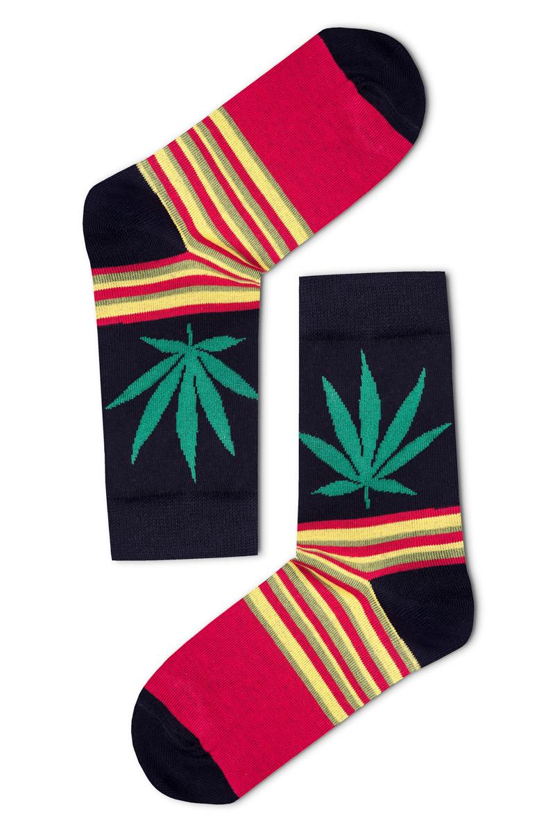 b3b219a382 Cannabis mintás női zokni