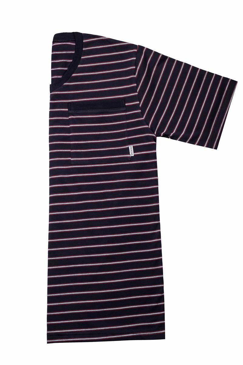 Pálcikás-csíkos rövid férfi pizsama (sötétkék-piros) 0c5f6d9614